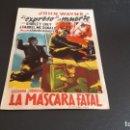 Cine: PROGRAMA DE MANO ORIG - EL EXPRESO DE LA MUERTE - SIN CINE . Lote 140584234