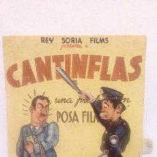 Cine: EL GENDARME DESCONOCIDO (CANTINFLAS) - PROGRAMA DE CINE TROQUELADO ARTICULADO CON MOVIMIENTO 1945. Lote 140663842