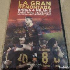 Cine: LA GRAN REMONTADA. BARÇA 4 - MILAN 0. CAMP NOU 12/03/2103. 1/8 DE FINAL UEFA OFICIAL FCB. Lote 140704958