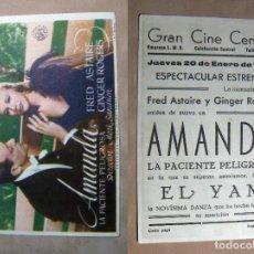 Cinema - PROGRAMA DE CINE AMANDA 1944 PUBLICIDAD GRAN CINE CENTRAL - 140761666