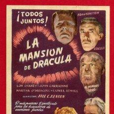 Cine: LA MANSION DE DRACULA , EL RARO , SENCILLO , ORIGINAL , PM10946. Lote 140785550