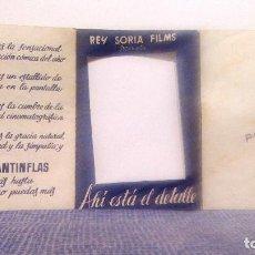 Cine: AHI ESTA EL DETALLE (CANTINFLAS) PROGRAMA DE MANO TRÍPTICO TROQUELADO Y DESPLEGABLE ORIG. REY SORIA . Lote 140663918