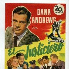 Cine: EL JUSTICIERO, CON DANA ANDREWS. S/I.. Lote 179636607