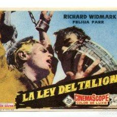 Cine: LA LEY DEL TALIÓN, CON RICHARD WIDMARK.. Lote 296910798