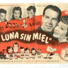 Foglietti di film di film antichi di cinema: LUNA SIN MIEL, CON CLAUDETTE COLBERT. S/I.. Lote 140946854