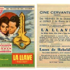 Cine: LA LLAVE, CON WILLIAM HOLDEN.. Lote 171712109