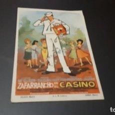 Cine: PROGRAMA DE MANO ORIG- ZAFARRANCHO EN EL CASINO - CINE MONTERROSA. Lote 141137238