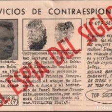 Cine: EL ESPIA DEL SIGLO - PROGRAMA SENCILLO FORMATO ESPECIAL , CB FILMS CON PUBLICIDAD RF-RF-1759 . Lote 141465882