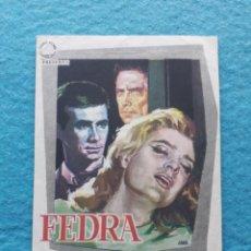 Cine: FEDRA. AÑO 1963. ANTHONY PERKINS, MELINA MERCOURI, RAF VALLONE.... Lote 141681182