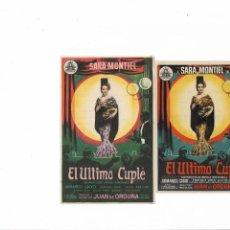 Cine: EL ULTIMO CUPLE ( CINE MASO Y PALAFOX ). Lote 141789398