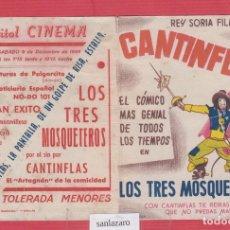 Cine: CARTEL DE CINE- PROGRAMA- LOS TRES MOSQUETEROS - CAPITOL CINEMA- CC15. Lote 39801827