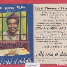 Cine: CARTEL DE CINE - PROGRAMA - AHÍ ESTÁ EL DETALLE - IDEAL CINEMA - TÁRREGA- CC514. Lote 46410047