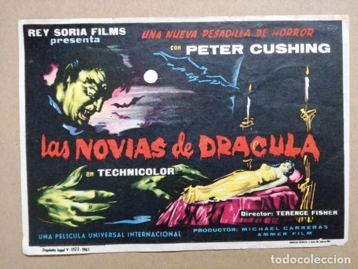 LAS NOVIAS DE DRACULA CHRISTOPHER LEE HAMMER FOLLETO DE MANO ORIGINAL ESTRENO (Cine - Folletos de Mano - Terror)