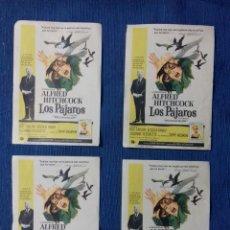 Cine: ALFRED HITCHCOCK- LOS PAJAROS. PROGRAMAS DE CINE. Lote 142256370