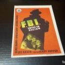 Cine: PROGRAMA DE MANO ORIG - FBI ENTRA EN ACCION - CINE MONTERROSA . Lote 142292930