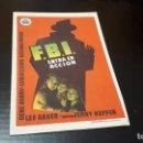 Cine: PROGRAMA DE MANO ORIG - FBI ENTRA EN ACCION - CINE DE CAMBRILS. Lote 142292954