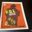 Cine: PROGRAMA DE MANO ORIG - FBI ENTRA EN ACCION - CINE DE BAEZA. Lote 142293058