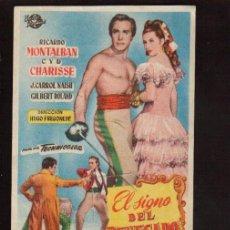 Cine: FOLLETO ORIGINAL-EL SIGNO DEL RENEGADO - AÑO 1950 -VER FOTOS QUE NO TE FALTE EN TU COLECCION . Lote 142393078
