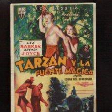 Cine: FOLLETO ORIGINAL- TARZAN Y LA FUENTE MAGICA AÑO 1949 -EL DE LAS FOTOS VER TODOS MIS LOTES DE CINE . Lote 142394694