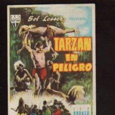 Cine: FOLLETO ORIGINAL-TARZAN EN PELIGRO - AÑO 1951 -VER FOTOS QUE NO TE FALTE EN TU COLECCION . Lote 142396806
