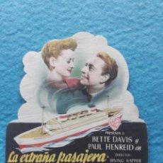 Cine: LA EXTRAÑA PASAJERA. AÑO 1948. BETTE DAVIS Y PAUL HENREID.. Lote 142456242