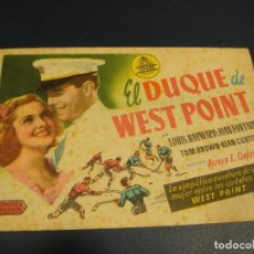 Cine: EL DUQUE DE WEST POINT - CINES BOHEMIO Y GALILEO. Lote 142585702