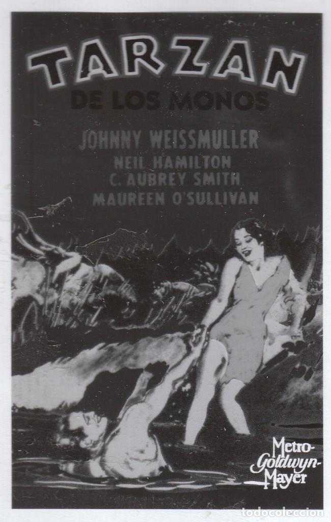 CINE 4 FOTOLITOS PELÍCULA TARZÁN DE LOS MONOS, JOHNNY WEISSMULLER MAUREEN O'SULLIVAN 1932 MGM (Cine - Folletos de Mano - Aventura)