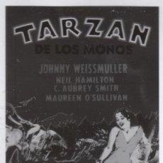 Cine: CINE 4 FOTOLITOS PELÍCULA TARZÁN DE LOS MONOS, JOHNNY WEISSMULLER MAUREEN O'SULLIVAN 1932 MGM. Lote 142695770
