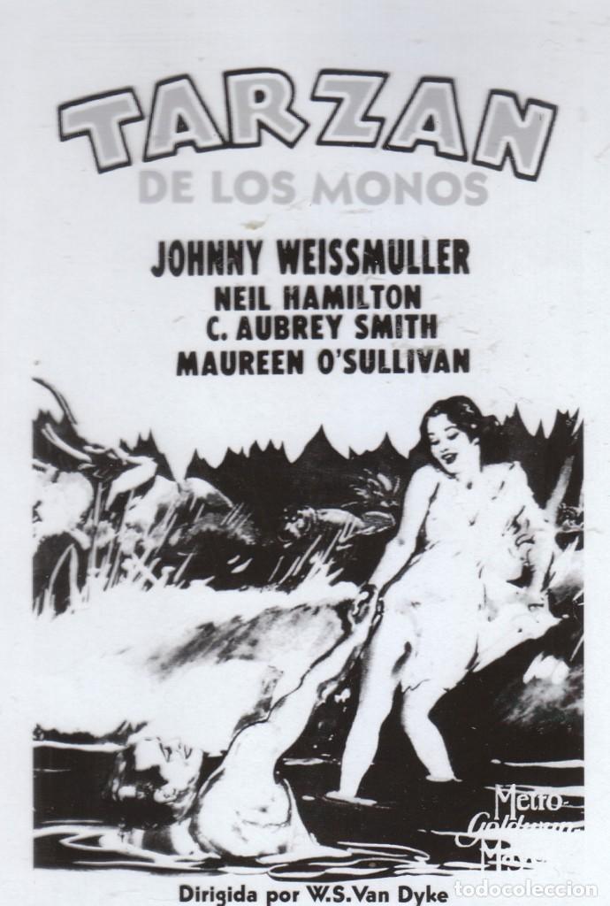 Cine: Cine 4 fotolitos Película Tarzán de los Monos, Johnny Weissmuller Maureen O'Sullivan 1932 MGM - Foto 2 - 142695770