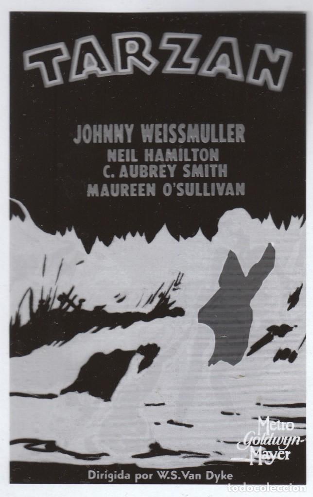 Cine: Cine 4 fotolitos Película Tarzán de los Monos, Johnny Weissmuller Maureen O'Sullivan 1932 MGM - Foto 3 - 142695770