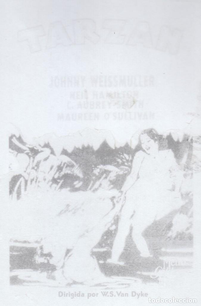 Cine: Cine 4 fotolitos Película Tarzán de los Monos, Johnny Weissmuller Maureen O'Sullivan 1932 MGM - Foto 4 - 142695770