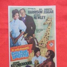 Folhetos de mão de filmes antigos de cinema: EL EXTRAVAGANTE DOCTOR DOLITTLE, IMPECABLE SENCILLO GRANDE, REX HARRISON, CON PUBLI VEDI 1969. Lote 142747310