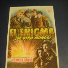 Cine: EL ENIGMA DE OTRO MUNDO - CINE GOYA , ZARAGOZA. Lote 142754522