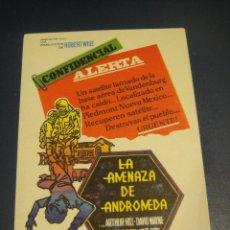 Cine: LA AMENAZA DE ANDROMEDA - SIN PUBLICIDAD. Lote 142754806