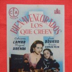 Cine: BIENAVENTURADOS LOS QUE CREEN, IMPECABLE SENCILLO, ADRIANA LAMAR, CON PUBLI CINEMA LAFUENTE . Lote 142807570