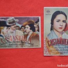 Cine: CASTAÑUELA 2 SENCILLOS, EXCTE. ESTADO, GRACIA DE TRIANA, 1 CON PUBLI T. BARTRINA REUS 1946. Lote 142808778