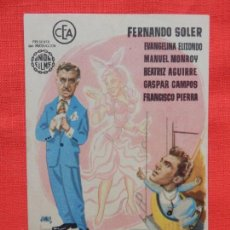 Cine: EDUCANDO A PAPA, IMPECABLE SENCILLO, FERNANDO SOLER, CON PUBLI TEATRO BARTRINA 1956. Lote 142809586