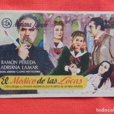 Cine: EL MEDICO DE LAS LOCAS, IMPECABLE SENCILLO, RAMON PEREDA, CON PUBLI CINEMA RADIO . Lote 142811690