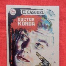 Cine: EL CASO DEL DOCTOR KORDA, IMPECABLE SENCILLO, HARDY KURGER, CON PUBLI MODERNO CAMBRILS. Lote 142812078
