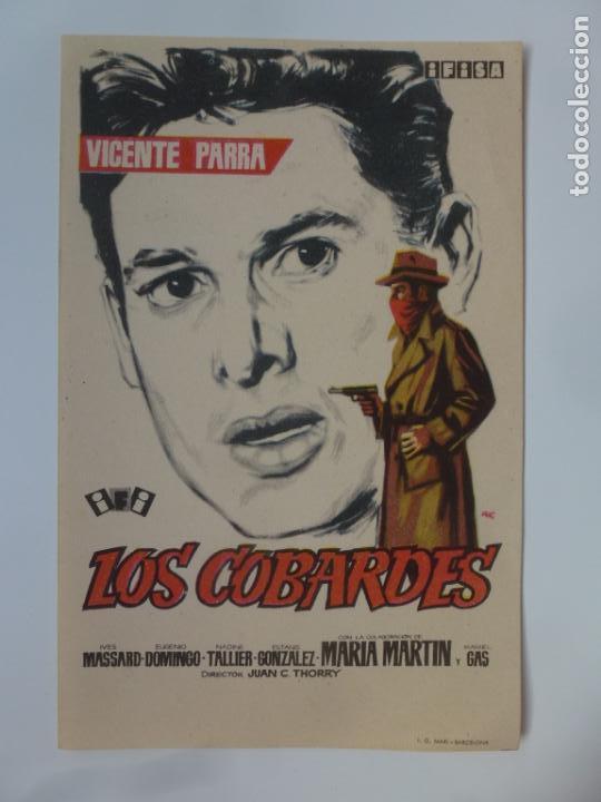PROGRAMA DE CINE. LOS COBARDES. SIN PUBLICIDAD. (Cine - Folletos de Mano - Infantil)