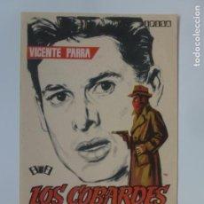 Cine: PROGRAMA DE CINE. LOS COBARDES. SIN PUBLICIDAD.. Lote 142861094