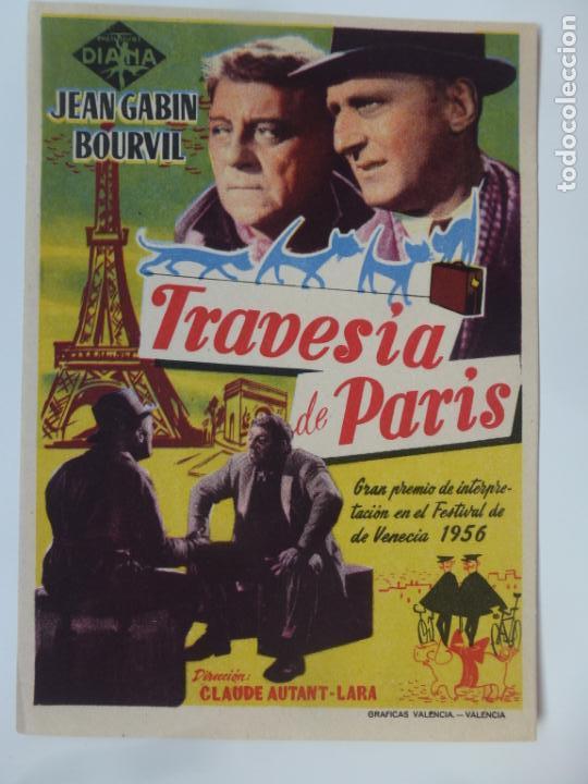 PROGRAMA DE CINE. TRAVESÍA DE PARIS. SIN PUBLICIDAD. (Cine - Folletos de Mano - Infantil)