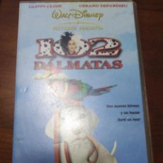 Cine: VHS 102 DALMATAS WALT DISNEY GLEEN CLOSE GERARD DEPARDIEU. Lote 143090226