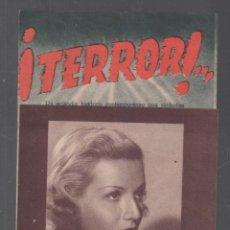 Cine: ¡TERROR! - PROGRAMA DOBLE DE UFA CON PUBLICIDAD RF-1915 . Lote 143138814