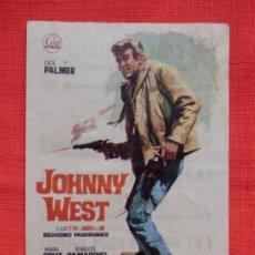 Cine: JOHNNY WEST, SENCILLO, DICK PALMER, CON PUBLI CINE TRIUNFO 1967. Lote 143187010