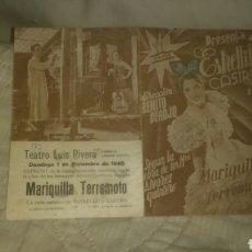 Cine: ESTRELLITA CASTRO EN MARIQUILLA TERREMOTO. CIFESA.. Lote 143215337