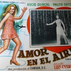 Cine: LOTE 9 FOTOCROMOS MEXICANOS ORIGINALES ROCÍO DURCAL (VER IMÁGENES) MARISOL PROGRAMA DE CINE CARTEL. Lote 143282246