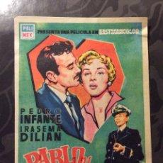 Cine: FOLLETO DE MANO PABLO Y CAROLINA. PUBLICIDAD CINE PERELLO. Lote 143308214