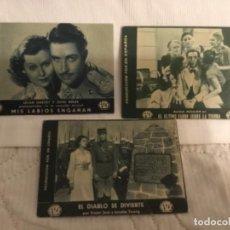 Cine: PROGRAMAS DE CINE TEATRO LUIS RIVERA 1935. FOX. TITULOS. Lote 143340722