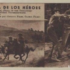 Cine: PELÍCULA LA SENDA DE LOS HÉROES FOLLETO DE MANO TIPO FICHA CON NÚMERO 191. Lote 143409926